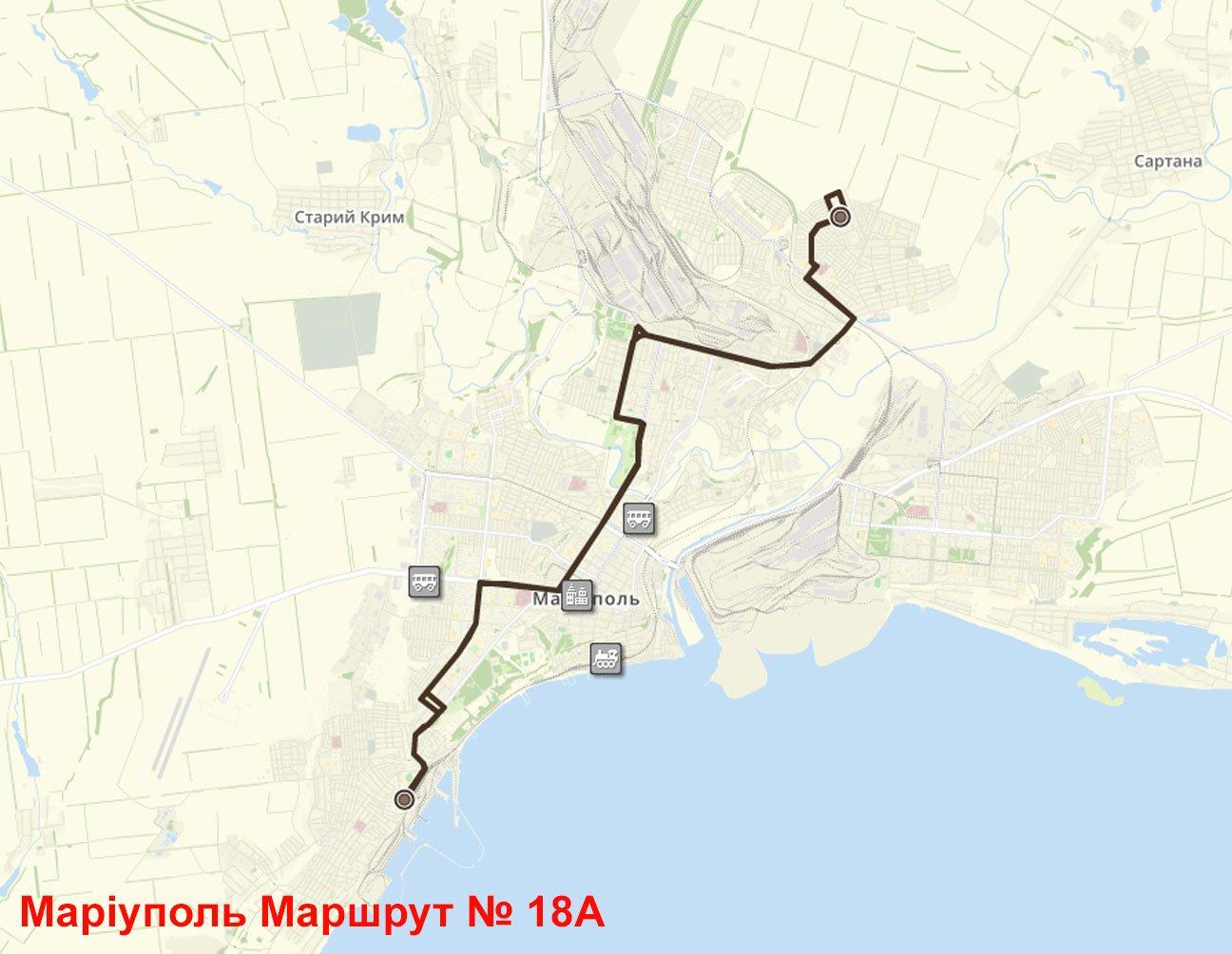 Автобус 18А Маріуполь